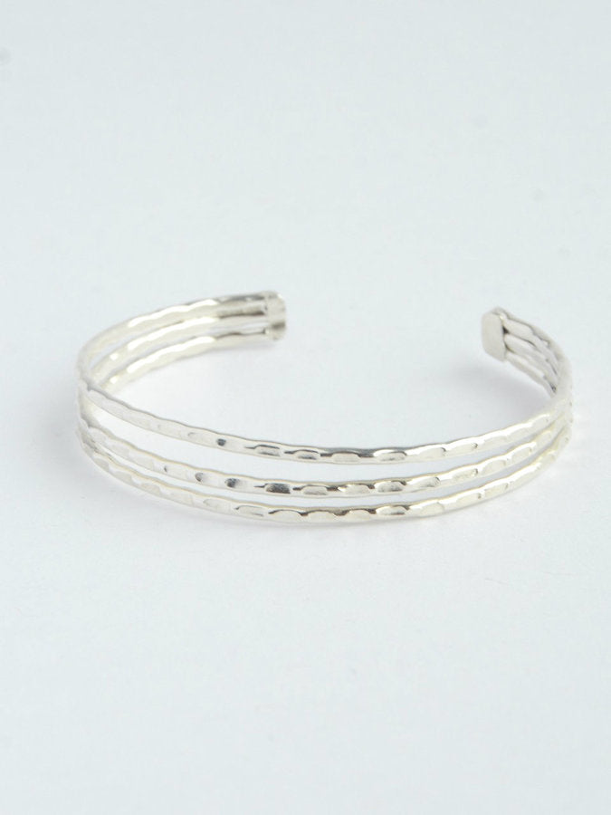 Simple Lines Cuff - Textured - Small Things Fair Trade