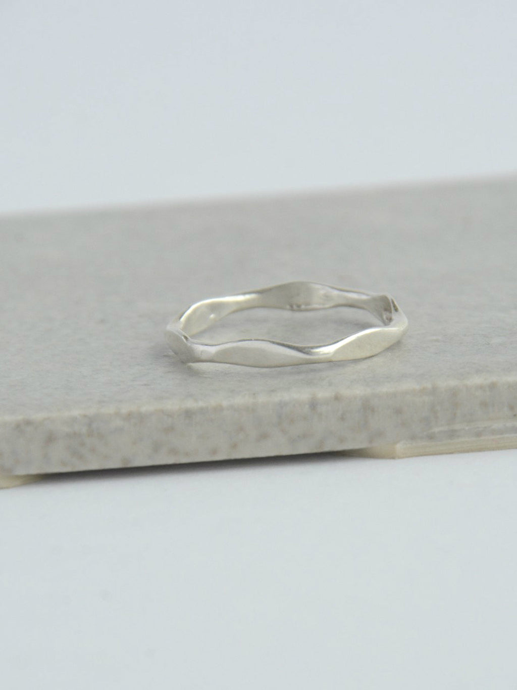 Thick Waves Sterling Stacking Ring - Small Things Fair Trade