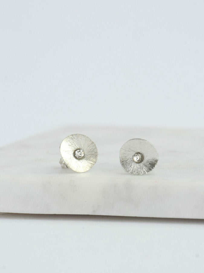 Poppy Stud Earrings - Silver - Small Things Fair Trade