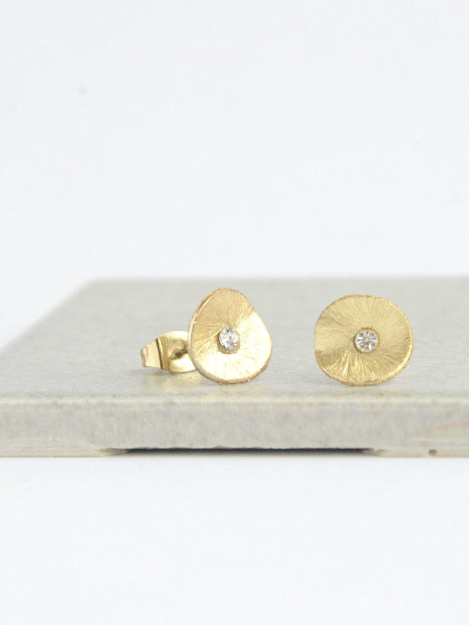 Poppy Stud Earrings - Gold - Small Things Fair Trade