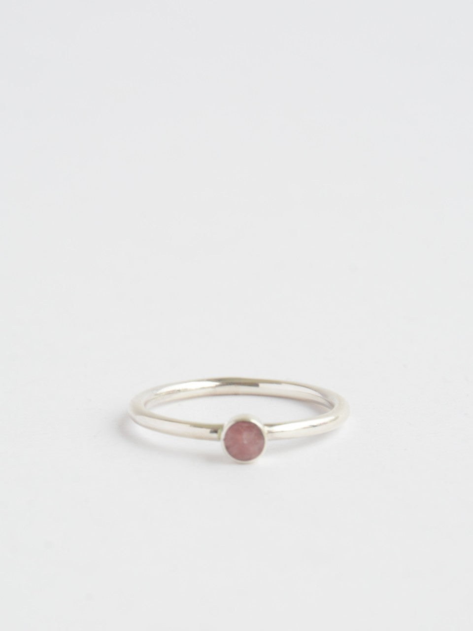 Rosamaria Sterling Ring (pink, blue or black stone) - Small Things Fair Trade