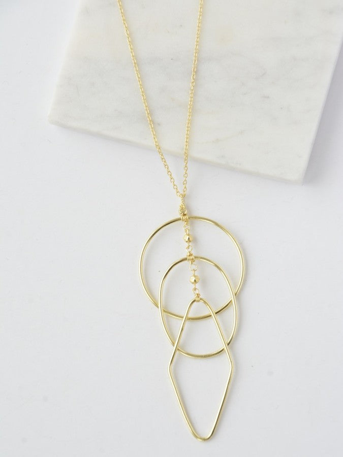 Ripples Necklace - gold - Small Things Fair Trade