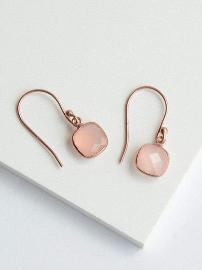 Daybreak Rose Gold Earrings - Small Things Fair Trade