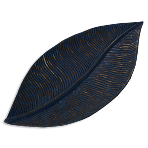 Wooden Leaf Tray - Indigo