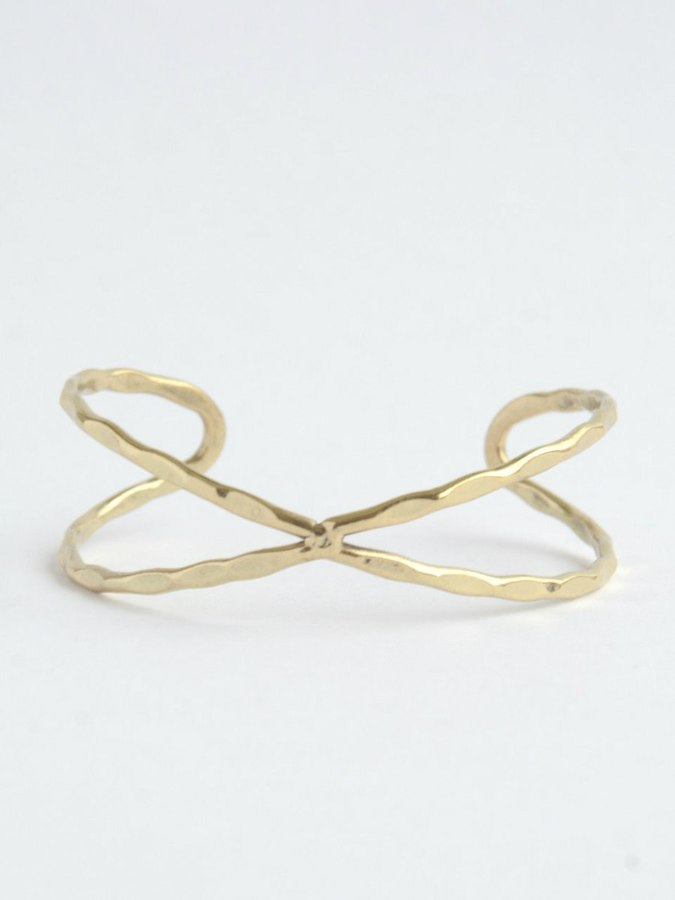 Helix Cuff Bracelet - gold - Small Things Fair Trade