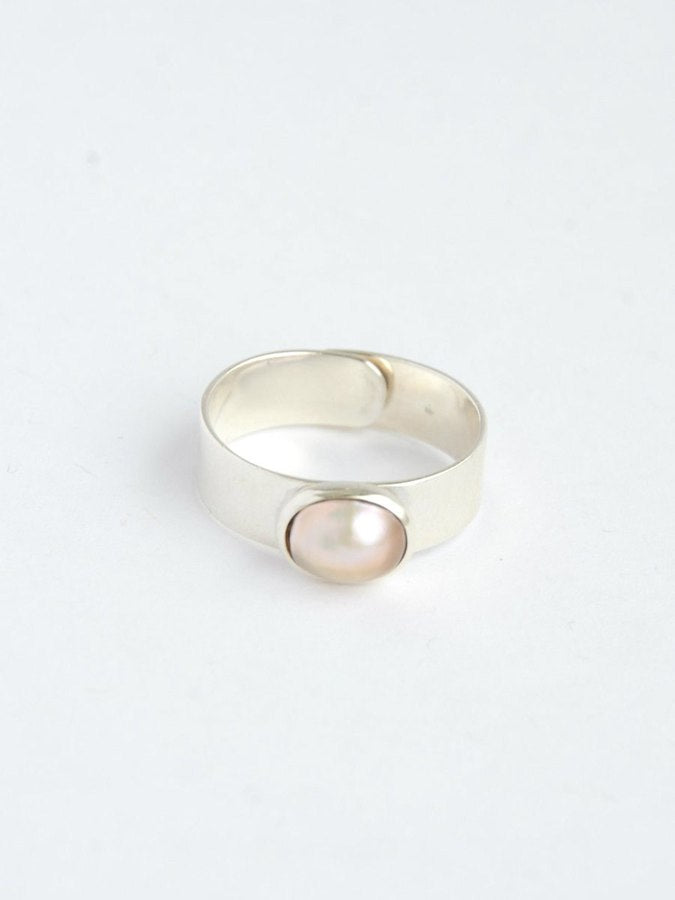 Dolores Freshwater Pearl Sterling Ring - Small Things Fair Trade