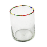 Multi Rimmed Double Old Fashioned Glass - Small Things Fair Trade