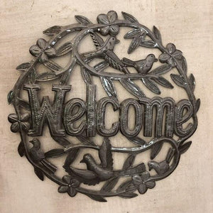 Welcome Birds Metal Sculpture - Haiti - Small Things Fair Trade