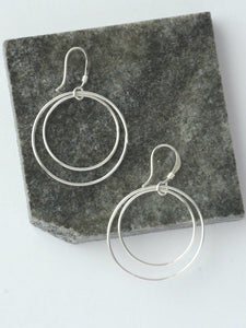 Double Moon Earrings - silver - Small Things Fair Trade