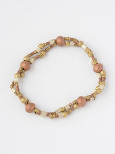Mixed Metal Elastic Bracelet - Small Things Fair Trade