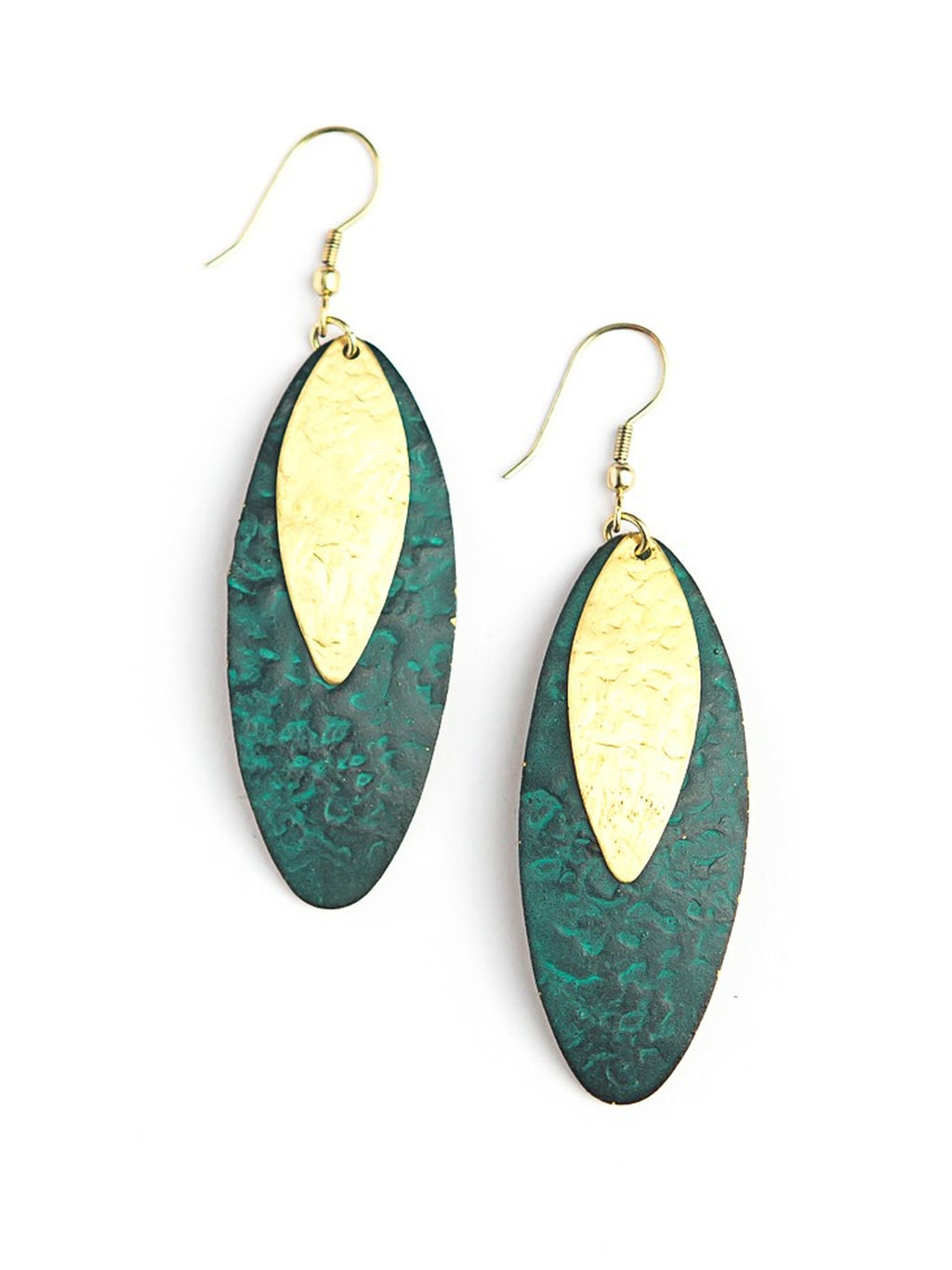 Oblong Leaf Earrings