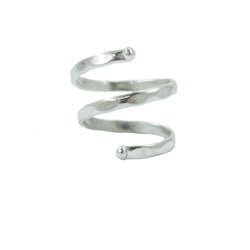 Double Wrap Ring - silver - Small Things Fair Trade