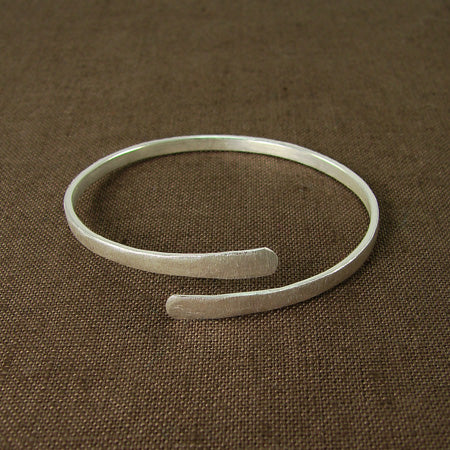 Wraparound Bangle - silver plated - Small Things Fair Trade