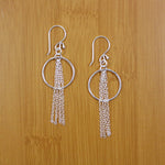 Fringed Circle Earrings - Sterling - Small Things Fair Trade