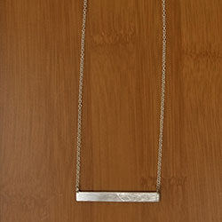 Brushed Bar Necklace - Small Things Fair Trade