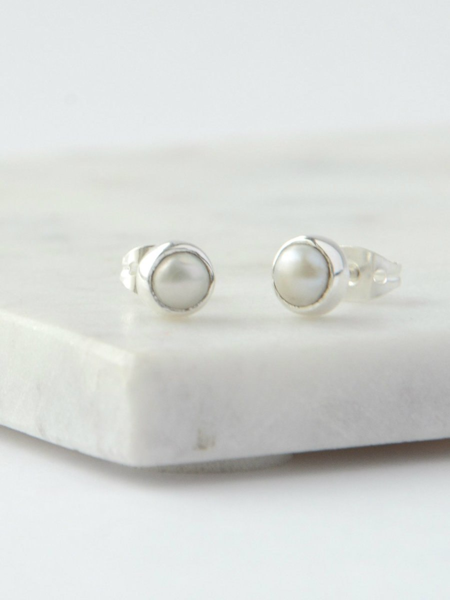Ethereal Pearl Studs - Small Things Fair Trade