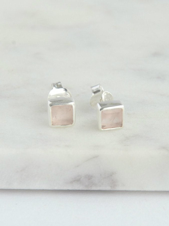 Crystal Waters Sterling Studs - Small Things Fair Trade