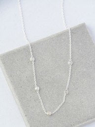 Delicate Pearl Sterling Necklace - Small Things Fair Trade