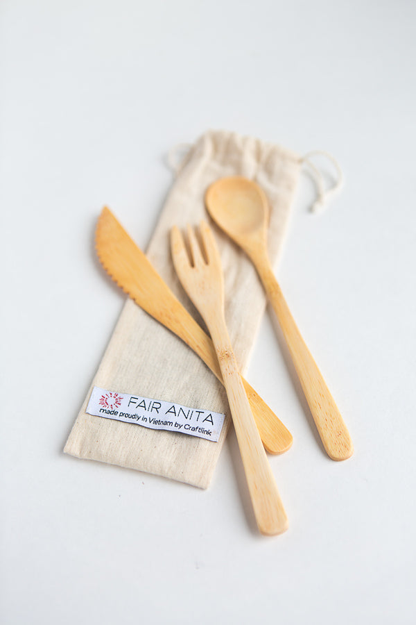 Bamboo Cutlery Set - Small Things Fair Trade