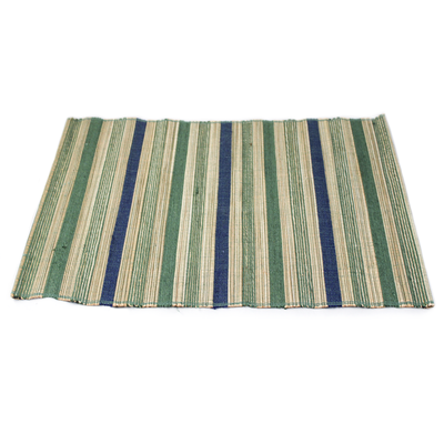 Blue/Green Multi Stripe Placemat - Small Things Fair Trade