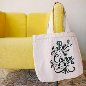 Tote - Be The Change - Small Things Fair Trade