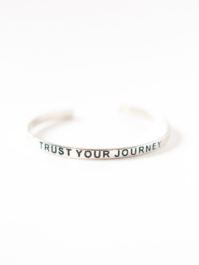 Trust Your Journey Bracelet - silver or gold tone - Small Things Fair Trade
