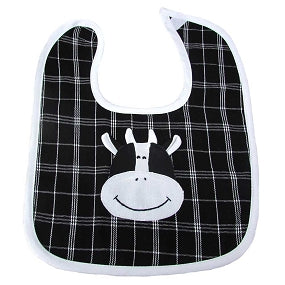 Cow Baby Bib - Small Things Fair Trade