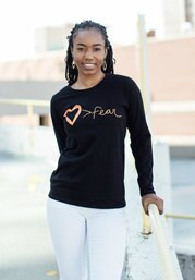 Love is Greater than Fear Tee Shirt- Long Sleeve - Small Things Fair Trade