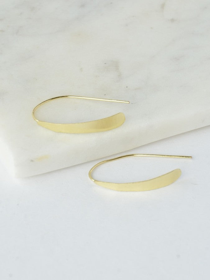 Faux Hoop Earrings - silver or gold tone - Small Things Fair Trade