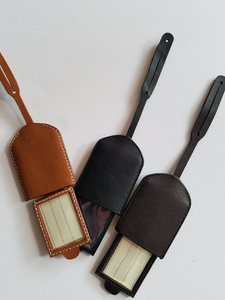 Leather Suitcase Luggage Tag - Small Things Fair Trade