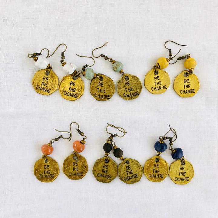 Be The Change Earrings - Small Things Fair Trade