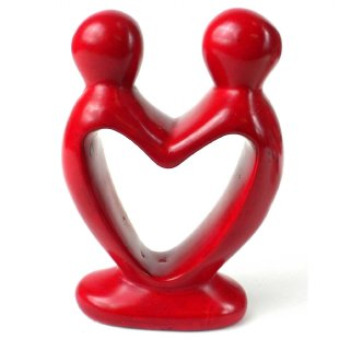 Lover's Heart Sculpture - 4 inch Red - Small Things Fair Trade