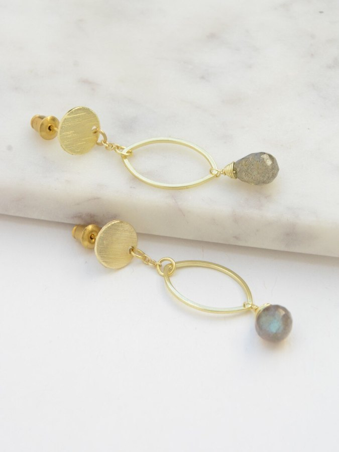 Transformation Labradorite Earrings - Small Things Fair Trade
