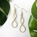 Double Helix Earrings - Silver or Gold Tone