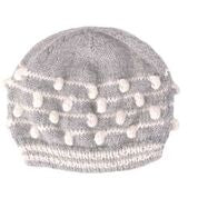 Baby Bobble Hat (gray/white or gray/blue) - Small Things Fair Trade