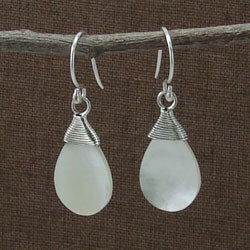 Teardrop Shell Earrings - Small Things Fair Trade