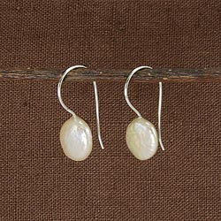Pastille Mother of Pearl Drop Earrings - Small Things Fair Trade
