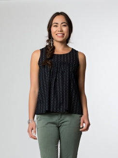 Dreamcatcher Top - Black Dashes - Small Things Fair Trade
