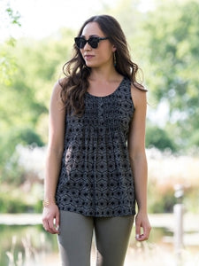 Freya Flounce Top - Black - Small Things Fair Trade