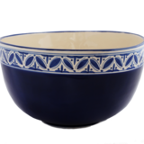 Extra Large Deep Blue Fez Salad Bowl - Small Things Fair Trade