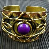 Purple Jade Abstract Cuff - Small Things Fair Trade