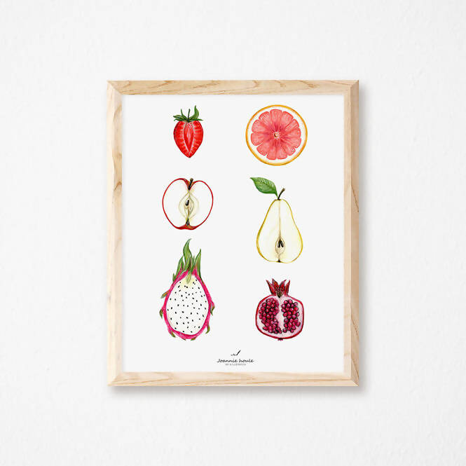 Affiche demi-fruits