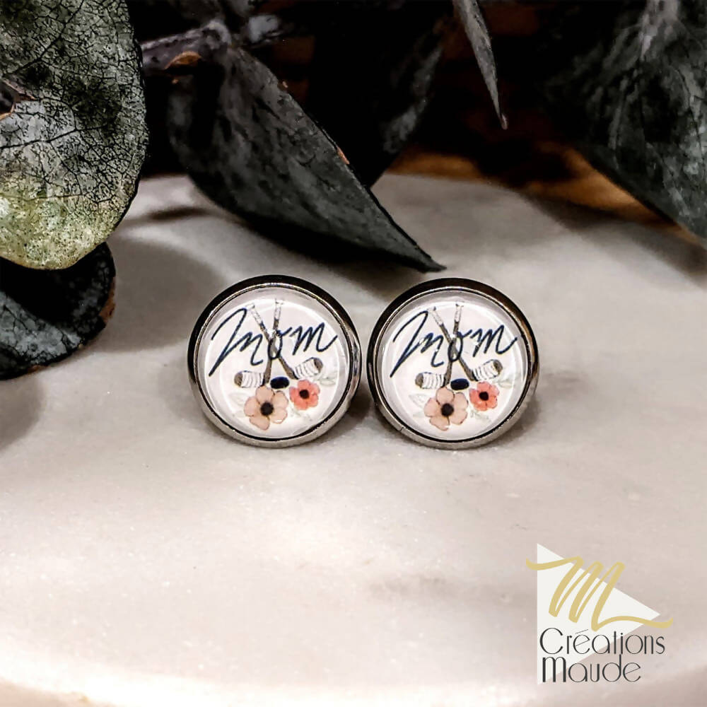 Boucles d'oreille | Hockey Mom