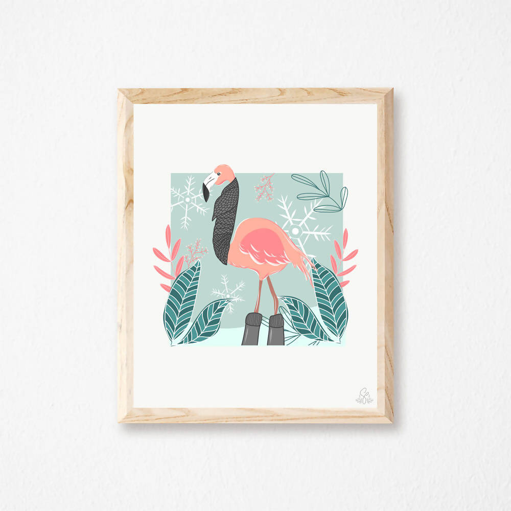 Illustration Flamand rose