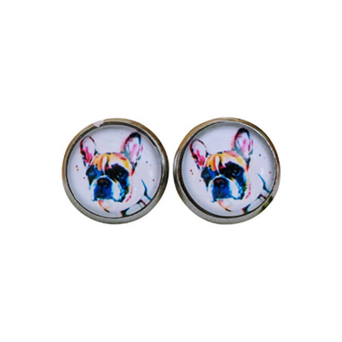 Boucles d'oreille Boston Terrier