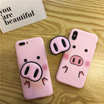 AWESOME CUTE AND FUNNY PIGGY NOSE Phone Case For iPhone X XS Max XR Case For iPhone 6 6s 7 8 plus Cover Fashion Funny Nose TPU Soft Cases Capa