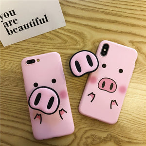 AWESOME CUTE AND FUNNY PIGGY NOSE Case For iPhone X XS Max XR Case For iPhone 6 6s 7 8 plus
