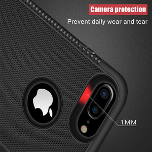 Rugged Case For iPhone X XR XS Max Cover Silicon Bumper Matte Cases For iPhone 6S 6 7 8 Plus 7Plus Shockproof Back Cover