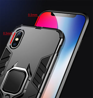 Shockproof Armor Phone Back Case for iPhone Xr 5S SE 6S Plus 8 7 Xs MAX Hard Rugged Impact Cover Funda