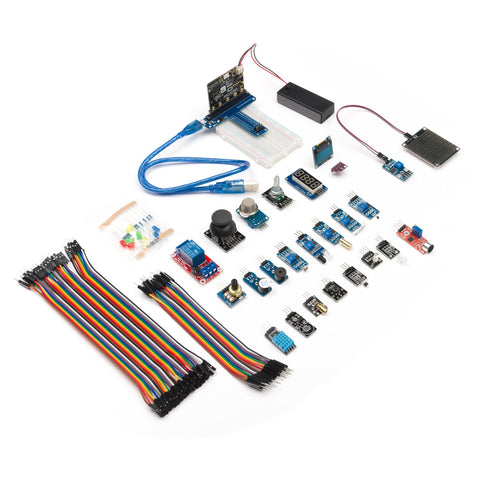 Little Bird Micro:bit Kit which includes 24 tutorials that will teach beginners on how to use the micro:bit together with various sensors and electronics so that they can go on to apply it to real-world applications.